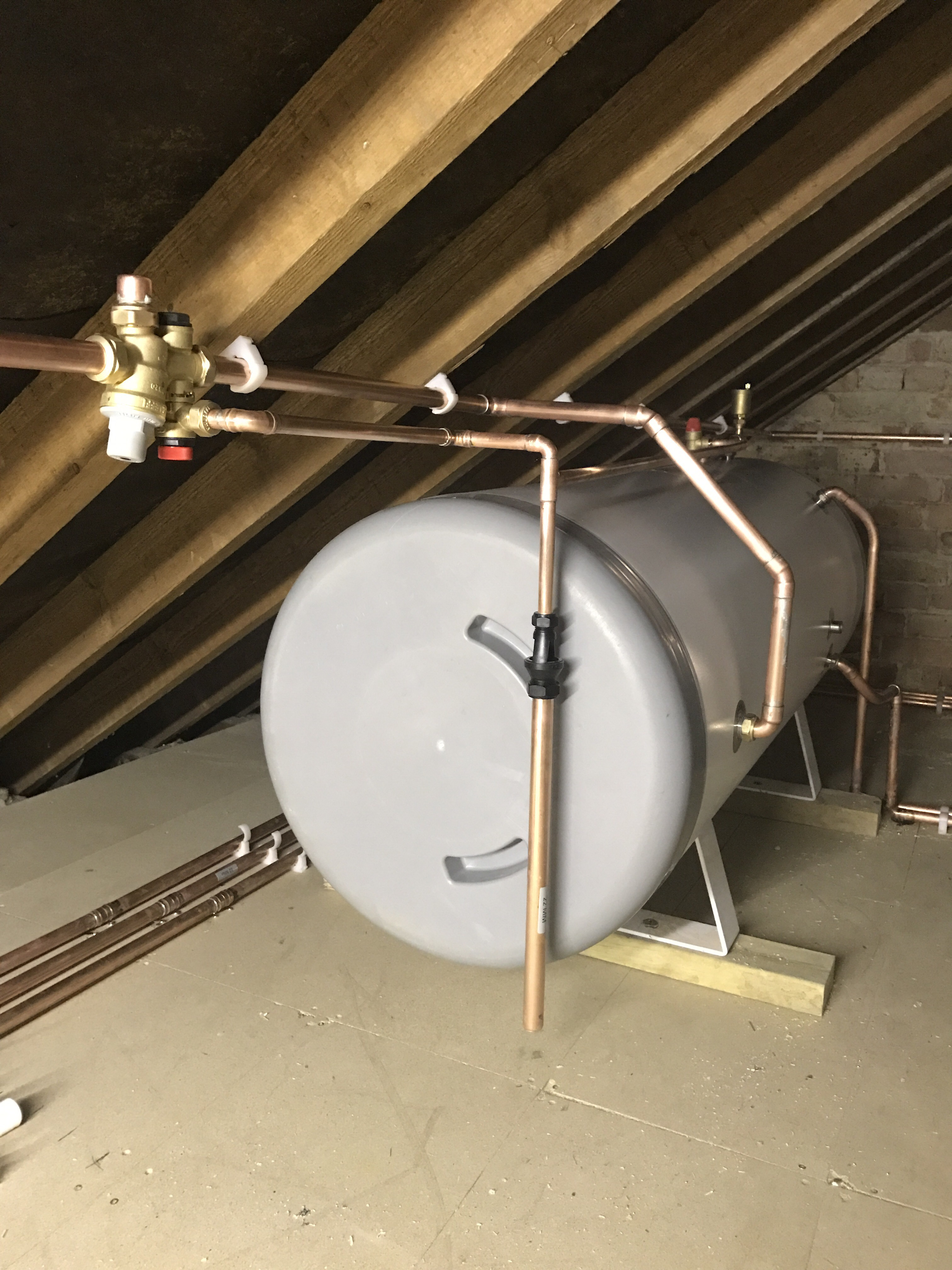 Unvented cylinder in the loft